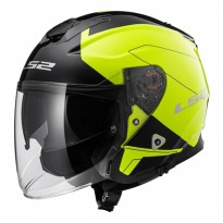 Helm LS2 OF521 Infinity Beyond Black Hi-Vis Yellow