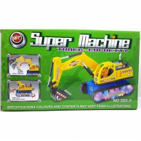 Mainan SUPER MACHINE Truck Excavator Construction 383-2