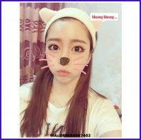 TGB Bando Handuk Kuping Kucing Lucu / Cute Cat Ears HeadbandPutih