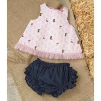 Mudpie Cowgirl Pinafore And Bloomer Set #1112121