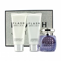 Jimmy Choo Flash Coffret: Eau De Parfum Semprot 100ml/3.3oz + Body Lotion - Losion Tubuh 100ml/3.3oz + Shower Gel - Gel Mandi 100ml/3.3oz  3pcs