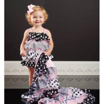 Mudpie Polka Dot Ruffle Bubble Infant#1132109
