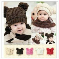 korean hat bunny / topi rajut tebal