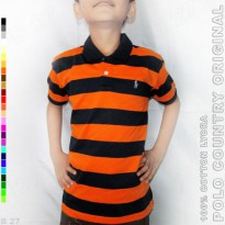 POLO COUNTRY Original C17-98 Kaos Kerah Anak Motif Salur Cotton Lycra