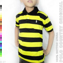 POLO COUNTRY Original C17-97 Kaos Polo Kids Motif Salur Katun Lycra