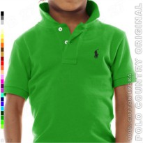 POLO COUNTRY Original C7-40 Polo Shirt Kids Cotton Lycra Hijau Daun
