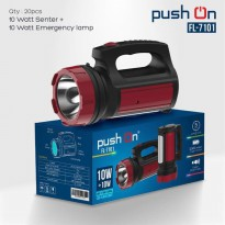 [Push on] senter 10 watt 300 meter+ lampu emergency 10 watt Merk push on FL 7101