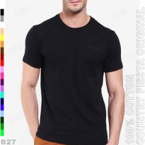 COUNTRY FIESTA Original P1 11 Kaos Distro Branded Cotton Polos Hitam