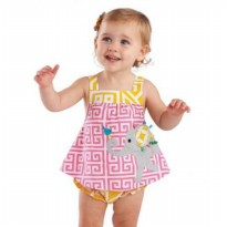 Mudpie Safari Elephant All-In-One Dress #1132114