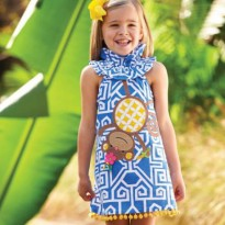Mudpie SAFARI MONKEY DRESS #1142106