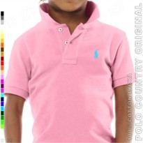 POLO COUNTRY Original C7-28 Kaos Polo Anak Katun Lycra Pink