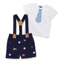 Mudpie Baseball Suspender & Short Set #1012131