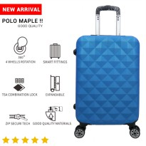 Tas Koper Polo Maple - Fiber ABS Bagasi Size 24 Inch B04 Blue