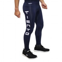 Tiento Baselayer Compression Celana Olahraga Tight Legging Long Pants Typotype Navy Original