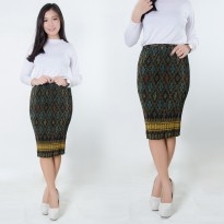 SB Collection Rok Plisket Latipa Pendek Midi Batik Jumbo Wanita