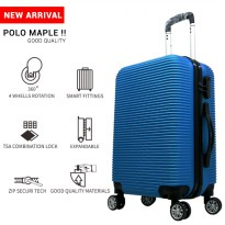 Tas Koper Polo Maple - Fiber ABS Bagasi Size 24 Inch B35 Blue
