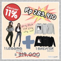 PROMO faktorpan NOV17 1pc KILLARNEY sweater + 1 BCUZ legging DISC 11%