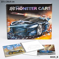 TOP Model TM 6025 Create your Monster Cars Colouring Book