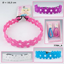 TM 7784 TOP Model Flower Hairband Silicone mainan