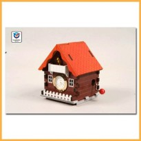 [Same space reflects the workshop timber model cuckoo clock music box house (YM864-2) three-dimensional model, wooden model assembly workshop Model Young model