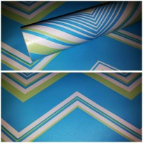 WALLPAPER STICKER 10m Motif Zig Zag