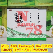 Baterai Mito A69 Fantasy 3 BA-00125 Double IC Protection
