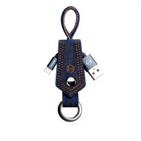 Mcdodo Keychain Denim Cable Kabel Data Micro USB
