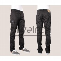 SLIMFIT LONG CARGO COTTON TWILL STRETCH TERSEDIA SIZE 28 SAMPAI 38
