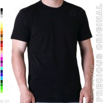 PRECIOUS Original K6-11 Kaos Distro Polos Cotton Combed Hitam