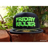 Topi Penutup Kepala Rapper Swag Hiphop snapback logo bordir allsize dewasa HIPHOP-FK  FRIDAY KILLER