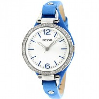 Jam Fossil Women's ES3470 Georgia Crystal Accent Silver Dial Blue