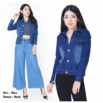 KFashion Jaket Jeans Washed Ralinne / Jaket Denim