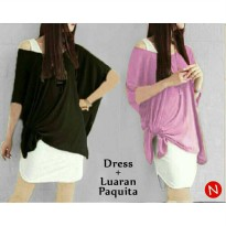DRESS SET PAQUITA YAN SPANDEK MIX SPANDEK BALON FIT TO XL