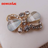 [globalbuy] DOWER ME brand 3D Mobile Phone Decorations Crystal Rhinestones Bow tie 3D Allo/5424802