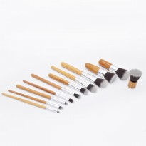 Makeup brush 11pcs set BAMBOO make up brush set 11 pcs