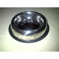 Pet Bowl Stainless (L) tpt makan minum dog/cat anjing/kucing.ANTIKARAT