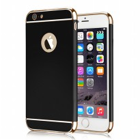 Case 3 in 1 Plated PC Frame Bumper with Rubber Coating Hard Back Case