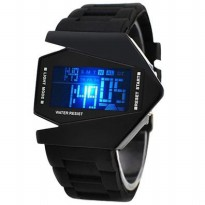 Aviator - Aircraft - Airplane - Jetplane LED Watch (Jam Tangan LED Pesawat Tempur)