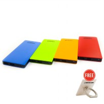 Delcell ECO Powerbank 10000mAh Real Capacity Varian Color Free 1Pcs Delcell iRing Random Colour