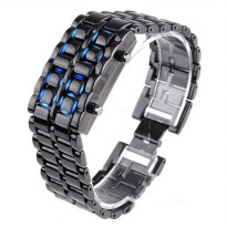 LED Watch Iron Samurai Tokyoflash Replica (Blue)