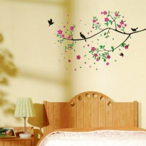 Wallsticker Bird Tree Flower