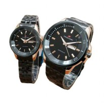 Swiss Army SA 1501 Jam Tangan Couple Black Gold