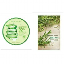 Nature Republic Soothing & Moisture Aloe Vera 92% + Sheet Mask Tea Tree (1pcs)