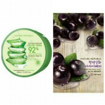 Nature Republic Soothing & Moisture Aloe Vera 92% + Sheet Mask Acai Berry (1pcs)
