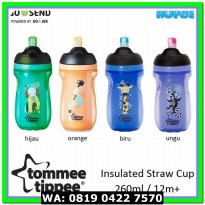 (Set Peralatan Makan Bayi) Tommee Tippee Straw Cup 12m+ Insulated