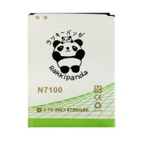 BATTERY BATERAI DOUBLE POWER DOUBLE IC RAKKIPANDA SAMSUNG N7100 NOTE 2 4750mAh