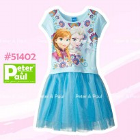 Ca51402 - Dress Pipo Carter Frozen Blue tutu