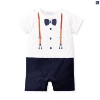 Boy Formal Romper - Suspender