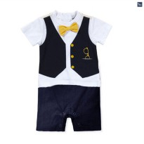 Boy Formal Romper - Vest