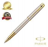 Parker I AM Deluxe Brush Stainless Steel GT Rollerball Pen M